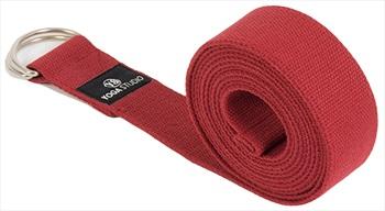"Yoga Studio D-Ring Belt Yoga/Pilates Strap, 1.5"" Wide Burgundy"