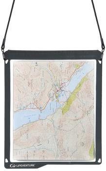 Lifeventure Waterproof Map Case Protective Map Cover, Grey