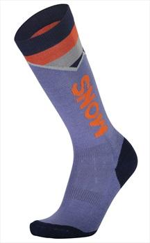 Mons Royale Womens Lift Access Women's Ski/Snowboard Socks, S Blue Velvet
