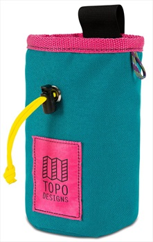 Topo Designs Hipster Rock Climbing Chalk Bag, One Size Turquoise/Pink