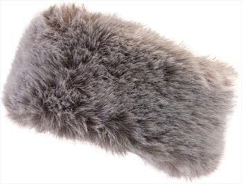 Manbi Women's Alicia Faux Fur Microfleece Headband, OS Timber Wolf
