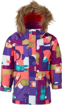 Burton Aubrey Girls Snowboard/Ski Parka, Age 4 Paper Animals