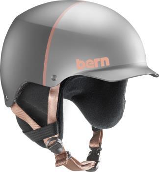 Bern Baker EPS Winter Snowboard/Ski Helmet, M Satin Silver Hatstyle