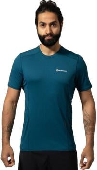 Montane Sabre Short Sleeve Technical Base Layer Top XL Narwhal Blue