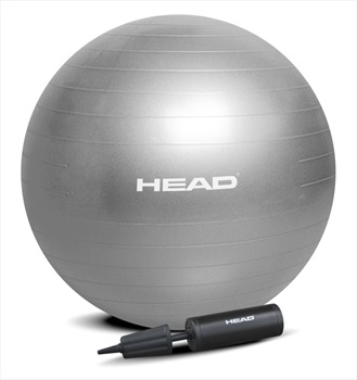 Head Anti-Burst Gym Exercise Ball, One Size Silver