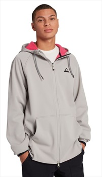 Burton Crown Weatherproof Full-Zip Hooded Fleece, L Iron Grey