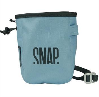 Snap Pocket Zip Rock Climbing Chalk Bag, 17 X 13 X 7 Cm, Light Blue