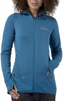 Berghaus Extrem 7000 Hoody Women's Hooded Fleece Jacket, UK 16 Blue