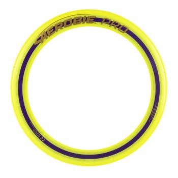 Aerobie Pro Flying Ring, 13-inch (33 cm) Yellow, Thrown Outdoor Toy