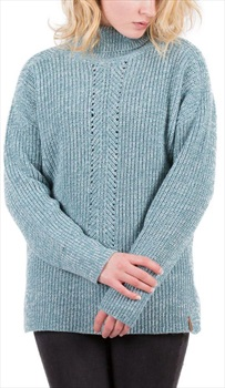Passenger Blue Spruce Knit Sweater Women's Jumper, S Smoke Blue Marl