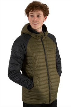 Flylow General's Insulated Down Midlayer Hooded Jacket L Black/Seaweed