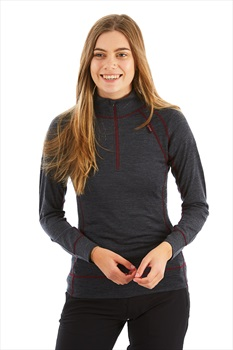 Kilpi Womens Jager Women's Merino Wool Base Layer UK 8 Dark Grey