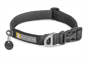 Ruffwear Front Range Collar Webbing Dog Collar, S Twilight Grey