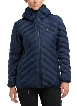 Haglofs Sarna Mimic Hood Women's Insulated Jacket, M Tarn Blue