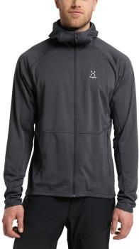 Haglofs Skuta Hood Fleece Full Zip Jacket, M Magnetite