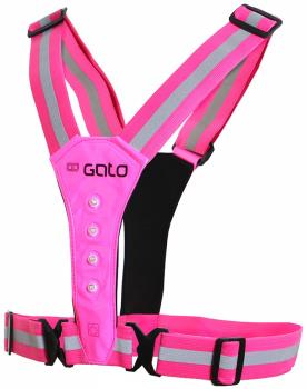 Gato Sports USB Safer Sport LED Running Vest, Hot Pink