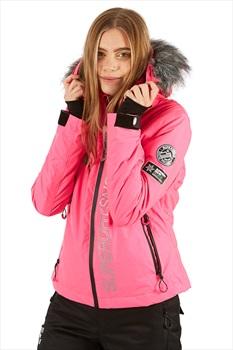 Superdry SD Ski Run Women's Ski/Snowboard Jacket, XS Pink Grit 2020