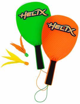 Yulu Helix Bat & Shuttle Set, Green/Orange