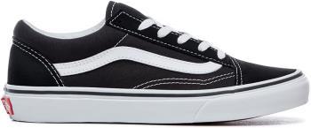 Vans Old Skool Kid's Skate Shoes, UK 2 Black/True White