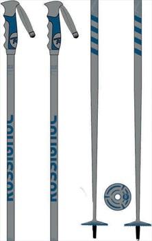 Rossignol Stove Ski Poles, 125cm Grey/Blue
