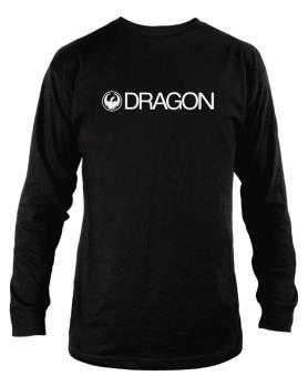 Dragon Trademark Long Sleeved T-Shirt, S Black
