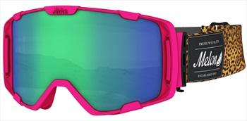 Melon Parker Green Chrome Snowboard/Ski Goggle, M/L Pink