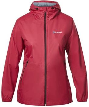 Berghaus Deluge Light Shell Women's Waterproof Jacket, UK 12 Pink