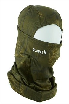 Planks Heist Hinged Snowboard/Ski Balaclava, One Size Jungle Palm