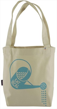 Patagonia Mini Tote Reusable Lunch Bag, OS Eat Local/Bleached Stone