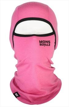Mons Royale Santa Rosa Hinge Merino Wool Balaclava, One Size Pink