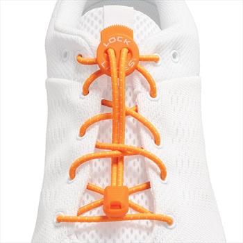 Lock Laces No-Tie Replacement Elastic Shoelaces, One Size Orange