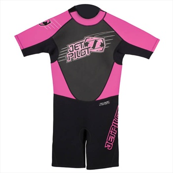JetPilot Cause Youth 2/2 Shorty Wetsuit, M, 10-11 Years Pink