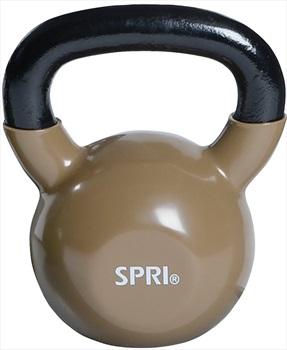 SPRI Vinyl Kettlebells/Weights, 15.9 KG Taupe