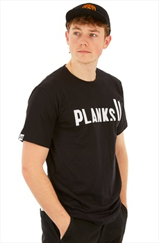 Planks Classic Short Sleeve T-Shirt, M Black