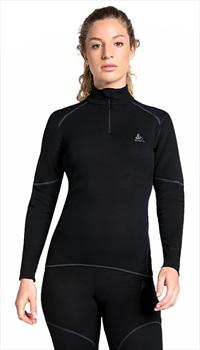 Odlo Active X-Warm Turtle Neck 1/2 Zip Long Sleeve Shirt, L Black