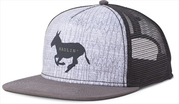 Prana Journeyman Trucker Graphic Baseball Cap, OS Charcoal Haulin