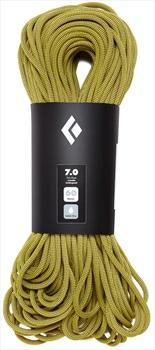 Black Diamond 7.0 Dry Rock Climbing Rope, 60m Yellow