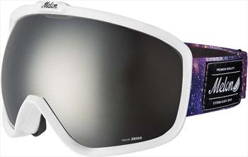 Melon Jackson Silver Chrome/Galaxy Strap Snowboard/Ski Goggle, White