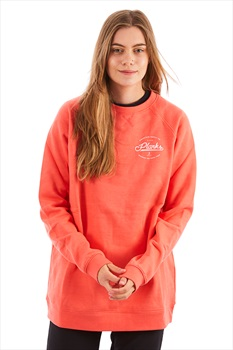 Planks Mountain Supply Co Women's Crew Pullover, L Heather Coral