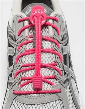 Lock Laces No-Tie Replacement Shoelaces, Hot Pink