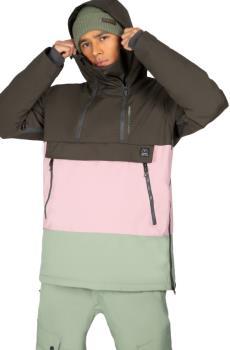 Protest Backflip Anorak Men's Ski/Snowboard Jacket, M Green Spray
