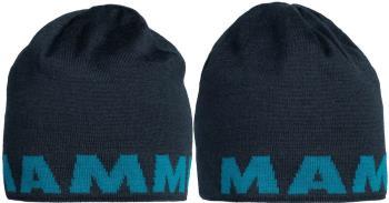 Mammut Logo Beanie Reversible Wool Hat, One Size Marine-Sapphire