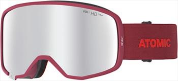 Atomic Revent HD Silver HD Snowboard/Ski Goggles, L Red