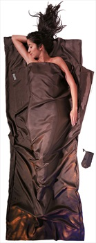 Cocoon TravelSheet Silk Ultralight Sleeping Bag Liner, Muddy Elephant