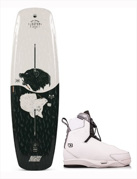 Liquid Force Raph | Tao 4D Wakeboard Package, 147|11-12 Black White