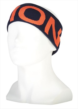 Mons Royale Arcadia Merino Winter Headband, One Size Navy/Orange