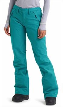 Burton Society Women's Snowboard/Ski Pants, S Green/Blue Slate
