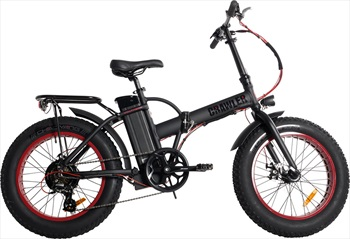 "Voltaway Crawler E-Bike Folding Electric Commuter Bike 20"" Black Widow"