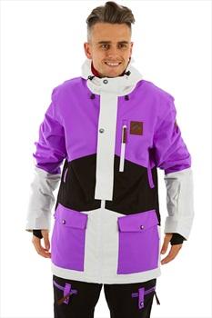 OOSC The Fresh Pow Snowboard/Ski Jacket, XL Purple/Black/White