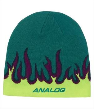 Analog Classic Logo Ski/Snowboard Beanie, One Size Green Blue Slate